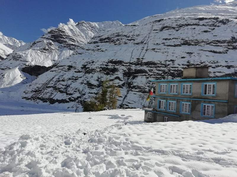 sissu Lahaul-Spiti during Snowfall