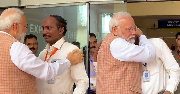 isro chief k sivan with pm modi