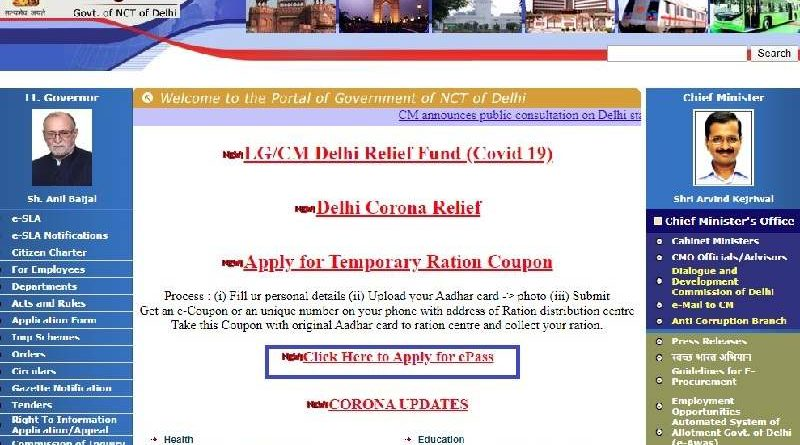 Delhi Government Website