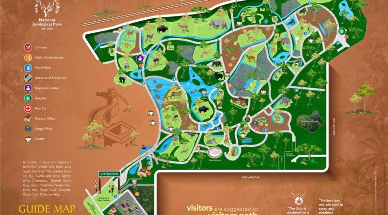 Delhi Zoo Map